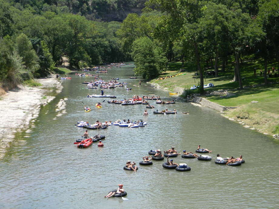 Tourists float down the Guadalupe River. (Canyon Lake Chamber of Commerce) Photo: Texas Hill Country