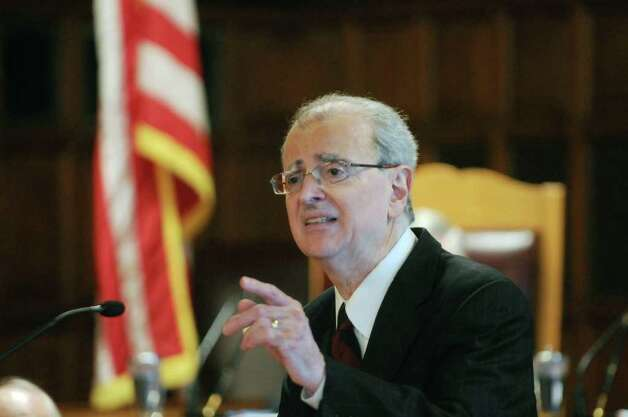 Chief Judge Jonathan Lippman delivers his annual State of the Judiciary address at the Court of Appeals on Tuesday, Feb. 14, 2012 in Albany, NY.   (Paul Buckowski / Times Union) Photo: Paul Buckowski