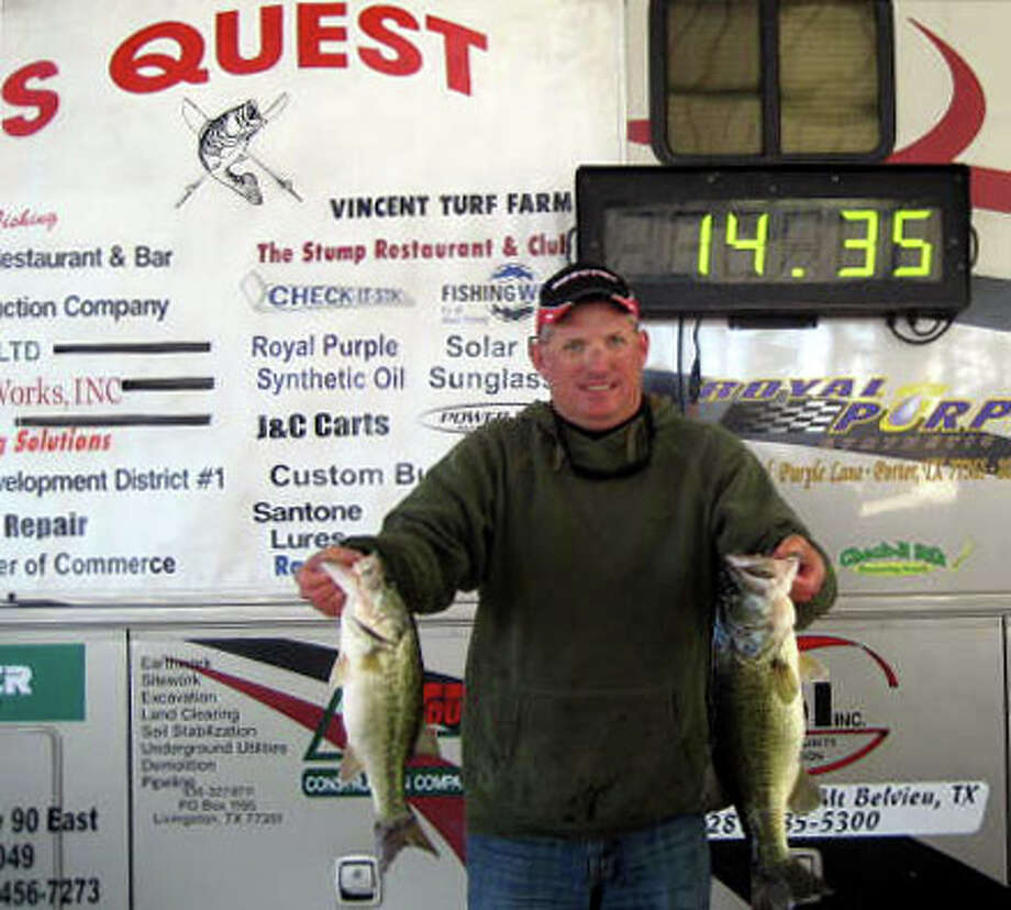 Clayton Boulware won tournament with his 5 fish limit that weighed 14.35 lbs.