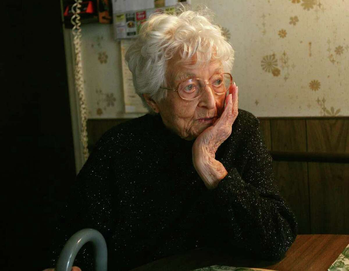 Mary Kantorowski of Fairfield was served with eviction papers by her son Peter on her 98th birthday. Kantorowski has resided in her 42 Flax Road home in Fairfield since 1953.