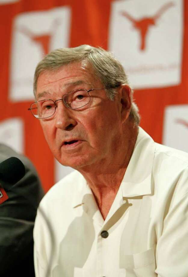 UT athletics director DeLoss Dodds knows moving more football games to LHN will bring criticism.  Erich Schlegel/Getty Images Photo: Erich Schlegel, Getty Images / 2010 Getty Images