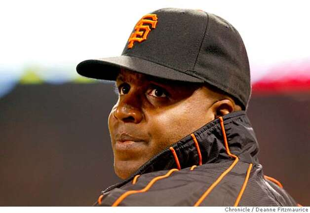 GIANTS26_df_005.JPG  Barry Bonds sits in the dugout. Bonds was scratched from the starting lineup. Atlanta Braves play the San Francisco Giants at AT&T Park in San Francisco, CA, on Wednesday, July, 25 2007. photo taken: 07/25/2007  Paul Chinn / The Chronicle ** (cq) _B2V2610.JPG  Atlanta Braves play the San Francisco Giants at AT&T Park in San Francisco, CA, on Wednesday, July, 25 2007. photo taken: 07/25/2007  Deanne Fitzmaurice / The Chronicle ** (cq) Photo: Deanne Fitzmaurice