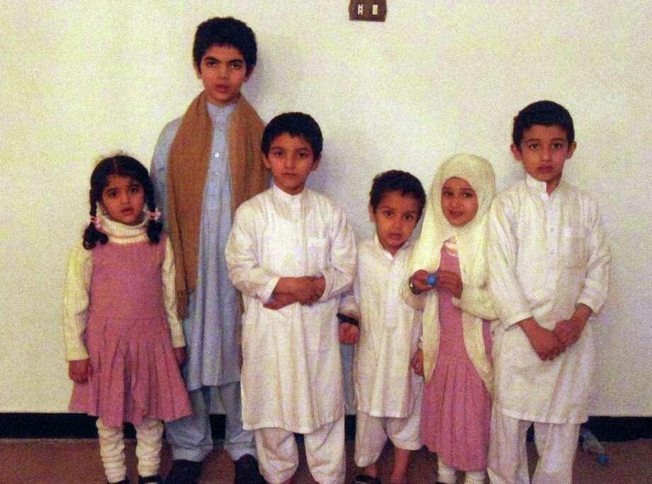 Osama bin Laden's children and grandchildren are being detained. From left:  Fatima, around 5; Abdullah, around 10; Hamza, around 7; Hussain around 3. Zainab, around 5; and Ibrahim, around 8. The first three are grandchildren. Photo: Handout / MCT