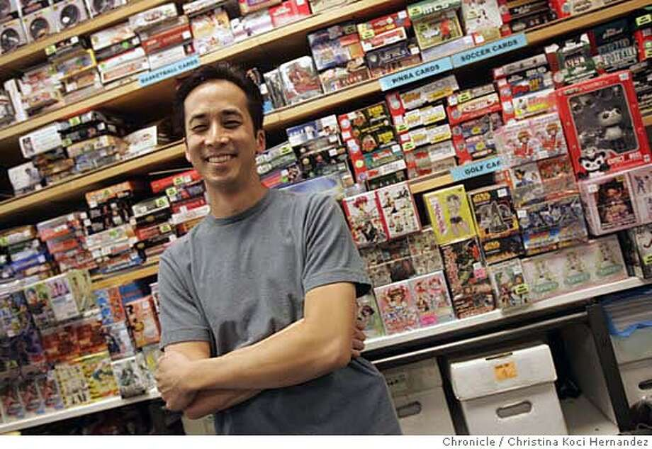 Herbert Gin runs Cards and Comics Central. He's a veteran of the baseball card ups and downs and has some stories about the way the market has gone bust. Cards and Comics Central is one of the few card stores left in the Bay Area. (CHRISTINA KOCI HERNANDEZ/THE CHRONICLE) Mandatory Credit For Photographer and San Francisco Chronicle/No-Sales-Mags Out Photo: Christina Koci Hernandez