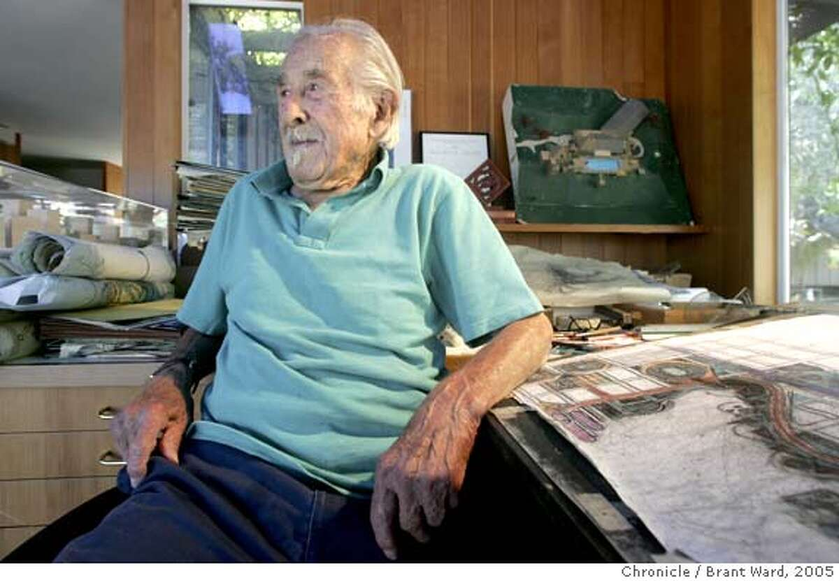 sigstyle126_ward.jpg Architect Mario Ciampi is reflective as he sits at his drafting table in the studio of his Kentfield home. Architect Mario Ciampi has had a huge impact on Bay Area architecture. Ciampi, who is 98, lives in Kentfield in a house he designed. His work can be seen in San Francisco along Market Street, in schools in Daly City and Pacifica and down the Penninsula. 10/11/05