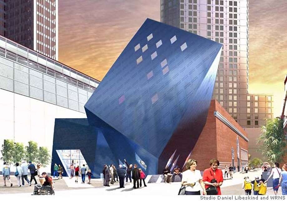 Rendering of The Contemporary Jewish Museum as viewed from Yerba Buena Lane  Credit: Studio Daniel Libeskind and WRNS Studio Photo: Studio Daniel Libeskind And WRNS