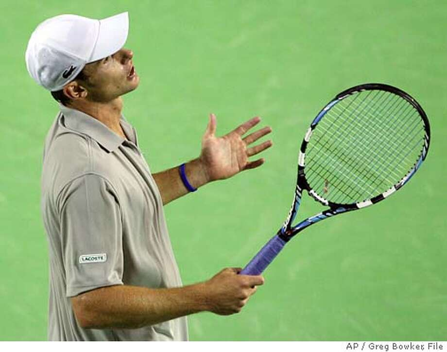 Since winning in San Jose last year, Andy Roddick has stumbled in major events. Part of the problem is that he has realized only lately that he can win at the net. Associated Press photo by Greg Bowker