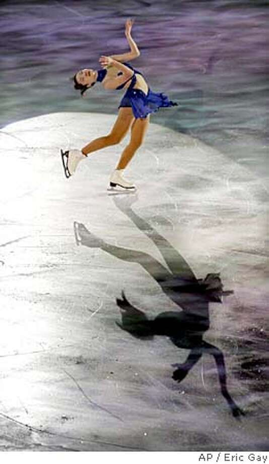 Gold medalist Shizuka Arakawa of Japan performs during the Figure Skating exhibition at the Turin 2006 Winter Olympic Games in Turin, Italy, Friday, Feb. 24, 2006. (AP Photo/Eric Gay) Photo: ERIC GAY