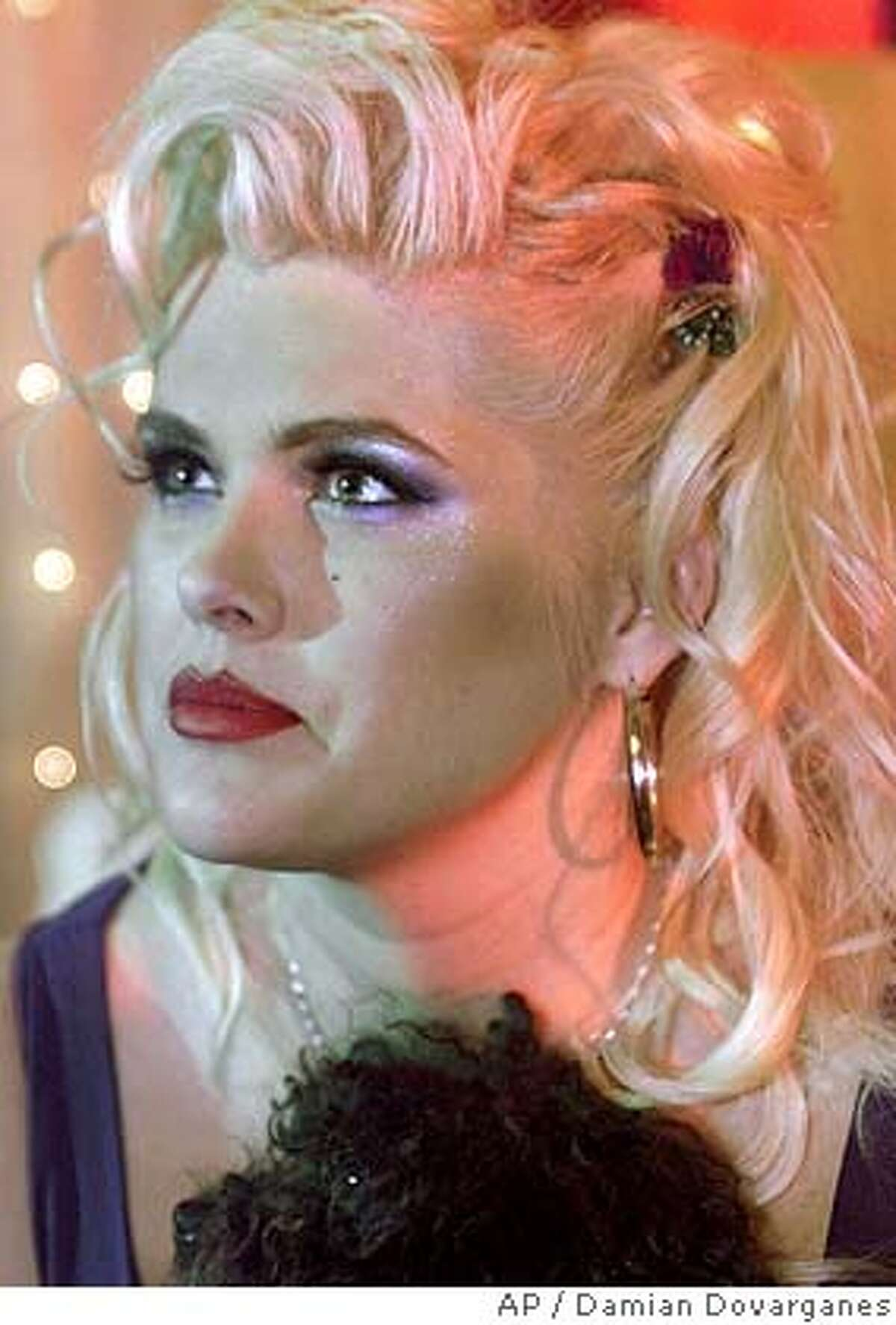 **FILE** Former model Anna Nicole Smith poses in this July 9, 2002 file photo. Anna Nicole Smith died Thursday, Feb. 8, 2007 after collapsing at a hotel. She was 39. (AP Photo/Damian Dovarganes, file) **JULY 9, 2002 FILE PHOTO**