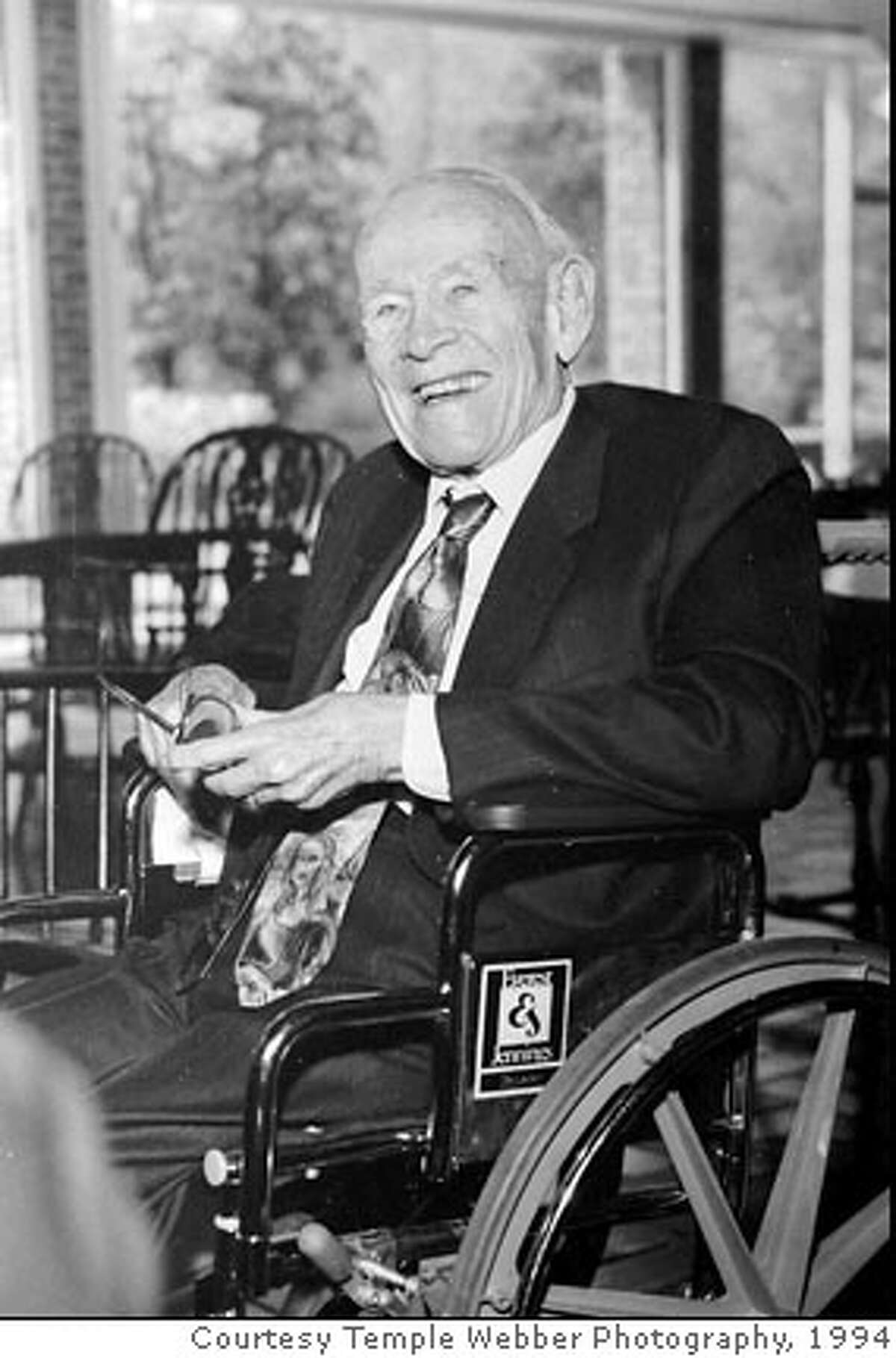 **FILE**Millionaire J. Howard Marshall II, shown in a file photo, made headlines in 1994 when he married l Anna Nichole Smith when she was 26 and he was 89. He died Aug. 5, 1995, when he was 90. A lawyer for Smith says she has died in Hollywood Fla., Thursday, Feb.8, 2007.(AP Photo/Courtesy Temple Webber Photography, from