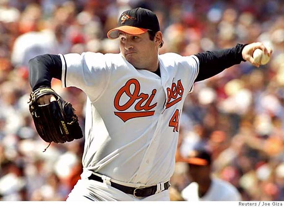 Baltimore Orioles relief pitcher Steve Kline, shown in this file photo taken at Camden Yards in Baltimore, Maryland May 22, 2005, is reported to have been traded by the club to the San Francisco Giants December 6, 2005. The deal, which is likely to be officially announced later on Tuesday, will send Kline to the Giants in exchange for reliever LaTroy Hawkins. REUTERS/Joe Giza/Files Ran on: 12-07-2005  Condoleezza Rice Ran on: 12-07-2005  Steve Kline will replace Scott Eyre in the Giants' bullpen. Ran on: 12-07-2005  Steve Kline will replace Scott Eyre in the Giants' bullpen. 0 Photo: JOE GIZA