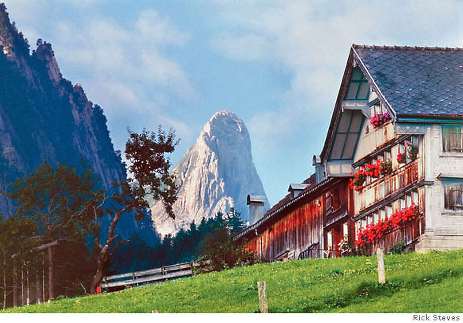 Filled with traditional farmhouses and dramatic peaks, the area around Mount Santis is one of the Appenzell region's most spectacular spots. Photo courtesy of the Switzerland Tourism Board