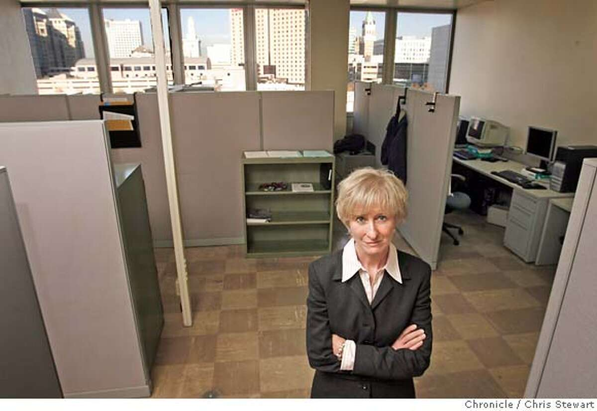 Mary Gibbons, Oakland Police Department Crime Laboratory manager, stands in the empty and unused fingerprint analysis unit. Chris Stewart / The Chronicle M&R, Mary Gibbons, Oakland Police Department Crime Laboratory