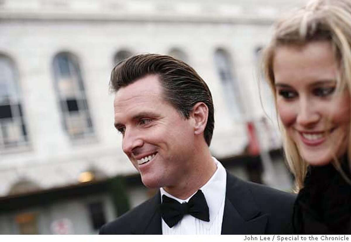 SEPT 6 - Opening night at the San Francisco Symphony. Vignettes of various fashion of San Francisco's well-heeled. Brittanie Mountz and Mayor Gavin Newsom. By JOHN LEE/SPECIAL TO THE CHRONICLE Ran on: 09-21-2006 Symphony board of governors President John Goldman and his wife, Marcia Goldman, in a beaded chiffon chocolate gown by Max Nugus. Ran on: 10-15-2006 Gavin Newsom and Brittanie Mountz Ran on: 10-15-2006 Gavin Newsom and Brittanie Mountz