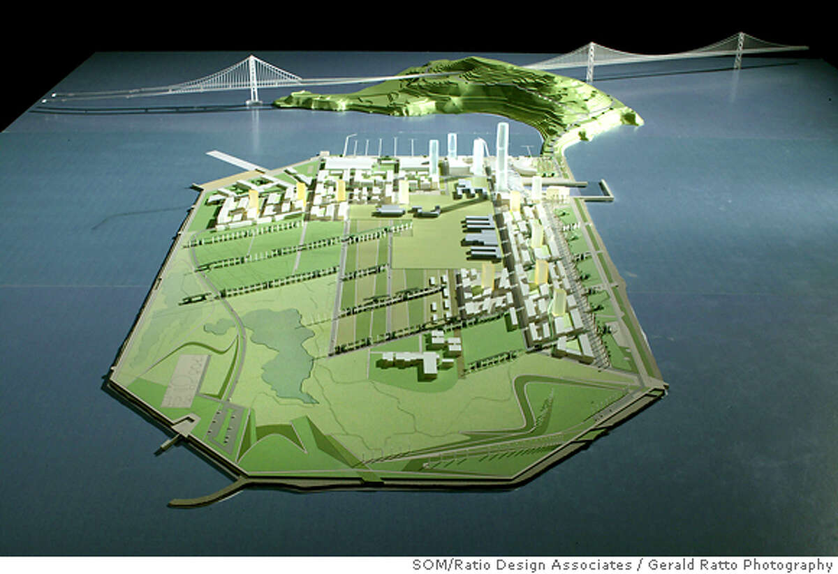 TreasureIsland-Overall View for John King�s Column on Dec. 15th. Model by SOM/Ratio Design Associates; Photography by Gerald Ratto Photography