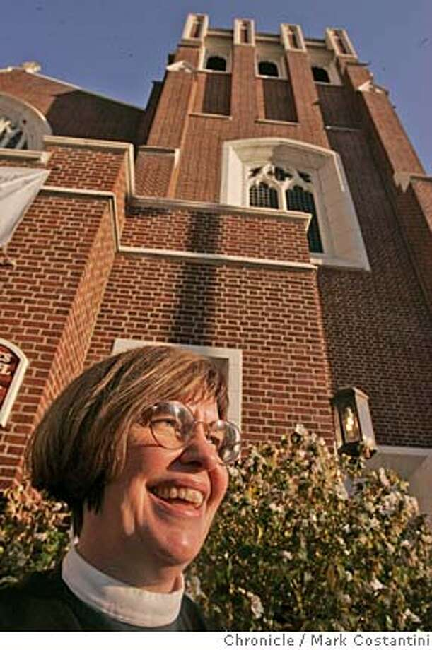 """Rev. Susan Allison-Hatch of St. Paul's Episcopal Church in Oakland has come up with the idea of blessing bicycles. She did it last year and it was a big hit, both with recreational bikes and people who cannot afford a car and use a bike as their transportation. She's doing it again this year on Oct. 9 and next weekend is adding a """"bless the pets service, with will be Oct. 2. Photograph by Mark Costantini/S.F. Chronicle. MANDATORY CREDIT FOR PHOTOG AND SF CHRONICLE/ -MAGS OUT Photo: Mark Costantini"""