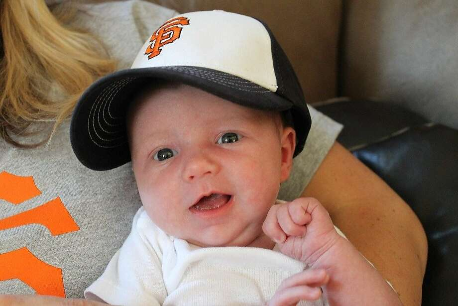 Brooklynn Olivia Bird was born at Mercy Hospital of Folsom at 8:02 p.m. on August 1st, the nine-month anniversary of the Giants clinching the World Series. Photo: Comcast Sports Net Bay Area, Courtesy Photo