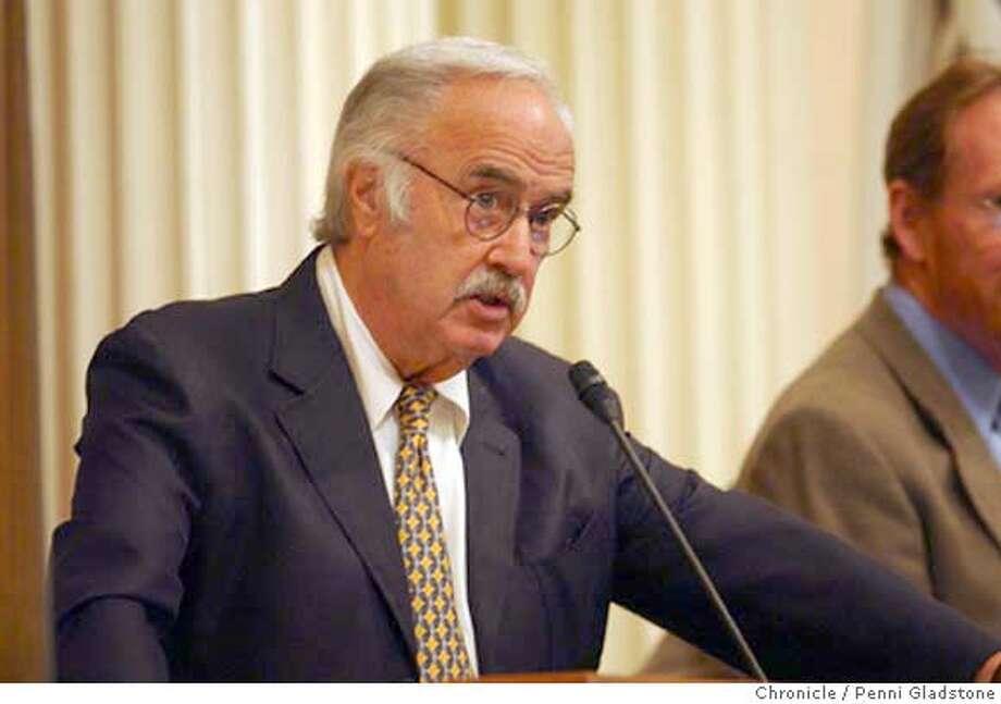 WHO WIL SUCCEED JOHN BURTON as senate pres. pro tem. 8/10/04 in Sacramento.  Penni Gladstone / The Chronicle Photo: Penni Gladstone