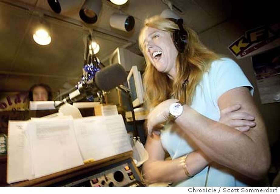 KFRC-c-01AUG02-SP-SS Morning Show co-host Cammy Blackstone yuks it up on the KFRC (am610) morning show. Today she was joined by Barry Zito, pitcher for the Oakland A's. (SF CHRONICLE PHOTO BY SCOTT SOMMERDORF) Photo: SCOTT SOMMERDORF