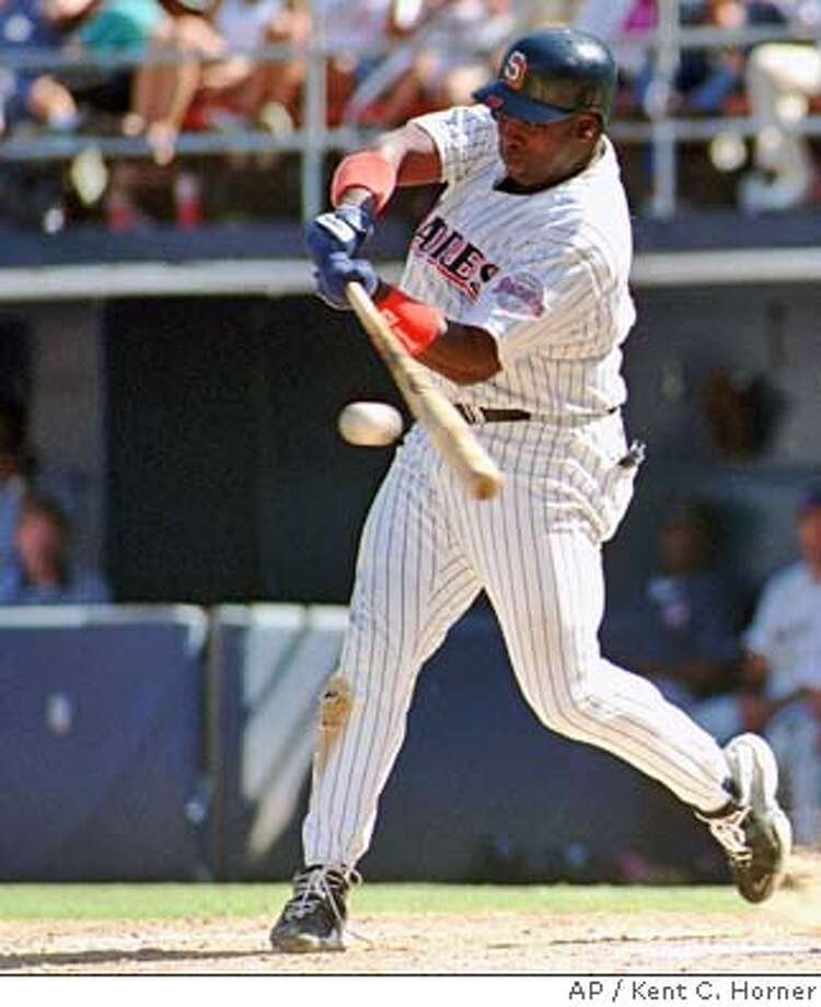 ADVANCE FOR WEEKEND EDITIONS JULY 17-18--FILE--San Diego Padres' Tony Gwynn fouls off a pitch prior to his fourth hit in this Sept. 15, 1996 photo in San Diego. Gwynn raised his average to .357. Gwynn wouldn't have wanted his 3,000th hit to come in any other uniform than that of the San Diego Padres. ``To get them all in one uniform, to get them all in one league, those things are important to me,'' said Gwynn, whose countdown to 3,000 has twice been interrupted this year by a left calf injury. ``That's why I'm still here.''(AP Photo/Kent C. Horner) CAT Photo: KENT C HORNER