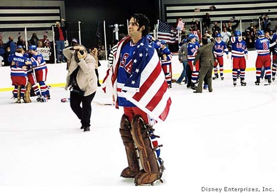 MIRACLE06  Team USA didn�t stand a chance in Ice Hockey against the Soviets at the 1980 Olympic Games, but hard work and perseverance paid off for goalie Jim Craig (Eddie Cahill, pictured) and the team of underdogs. The greatest moment in sports history is relived in Walt Disney Pictures� inspirational new motion picture, �Miracle.� &quo;Miracle,&quo; which features Eddie Cahill as goalie Jim Craig, plays a little loose and fast with the facts.