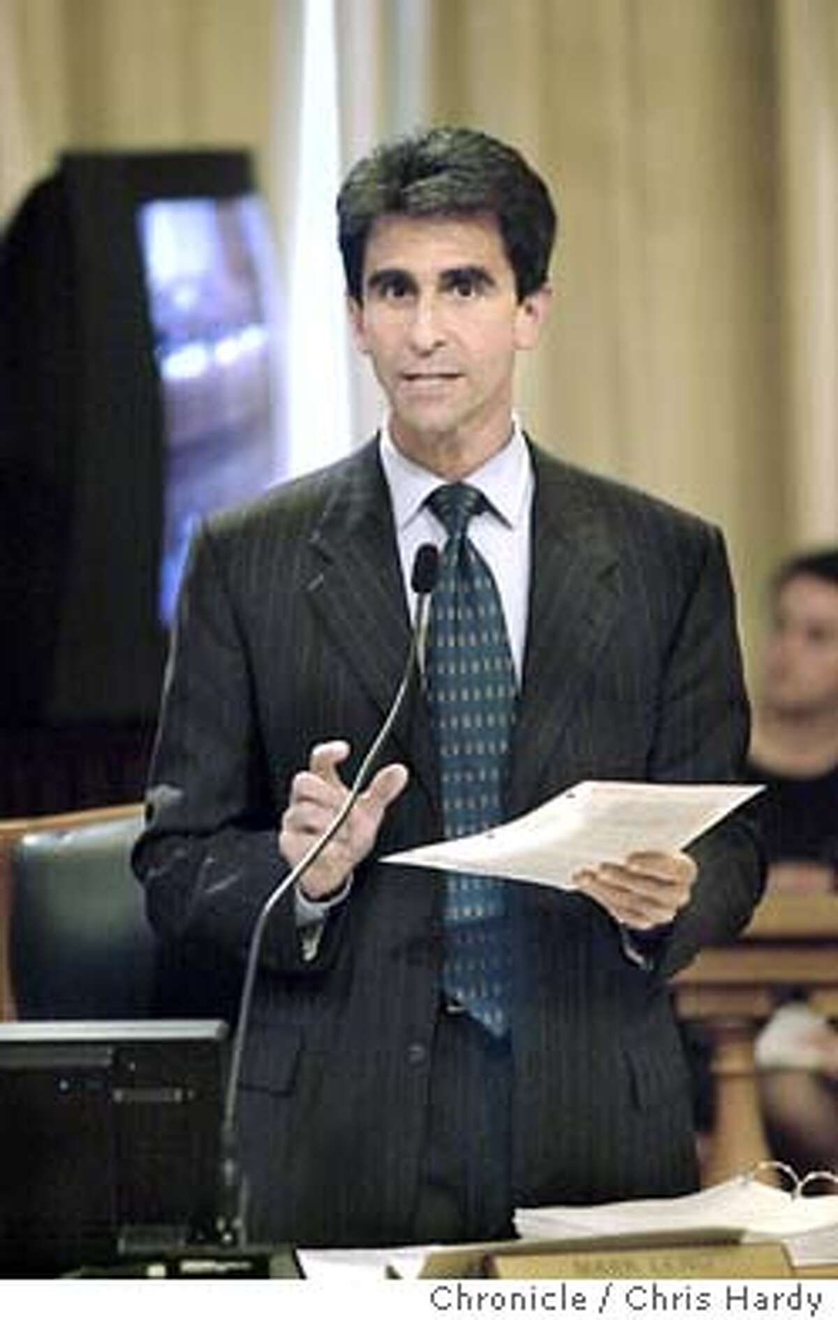 PARKING-C-06AUG01-MT-CH BOARD OF SUPERVISORS VOTE ON PARKING FINE INCREASES SUPERVISOR MARK LENO CALLING FOR INCREASED FINES -----CHRONICLE PHOTO BY CHRIS HARDY ALSO RAN 08/05/03