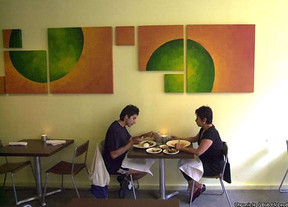 At Limon, the bare-bones space is dressed up with lemon-, tangerine- and lime-colored paint. Chronicle photo by Bob McLeod
