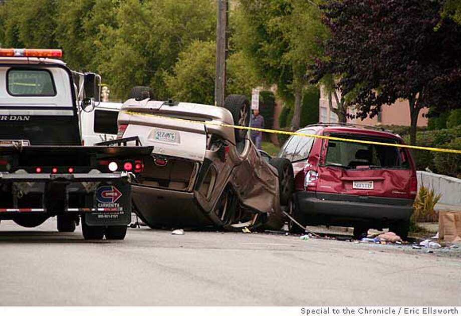 If you could use them. An accident on 14th avenue in the Sunset early this morning. Multiple car collision. Police cleared the wreckage at about 8:30 am this morning. I have uploaded them to this link:  http://www.megaupload.com/?d=PQK88R4X  By Eric Ellsworth/Special to the Chronicle Photo: Eric Ellsworth