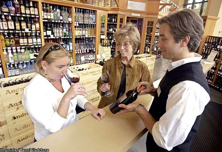Andronico's in Walnut Creek offers a wine-tasting bar. Chronicle photo by Penni Gladstone