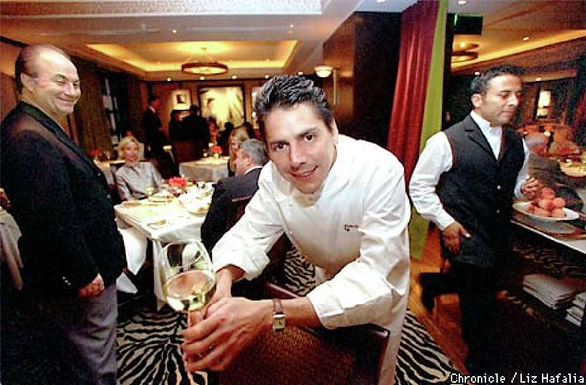 Chef George Morrone of the Fifth Floor restaurant. Chronicle photo by Liz Hafalia