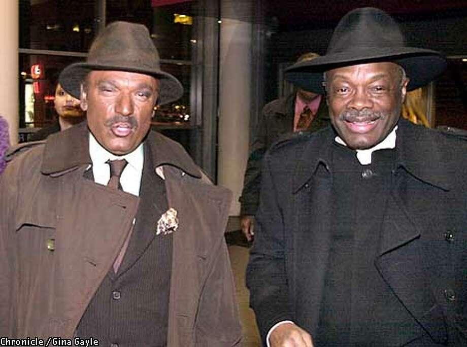Stanley Gatti dressed as the Mayor and the Mayor, Willie Brown dressed as a priest at the Artists Ball at Yerba Buena Gardens. Photo by Gina Gayle/The SF Chronicle. Photo: GINA GAYLE
