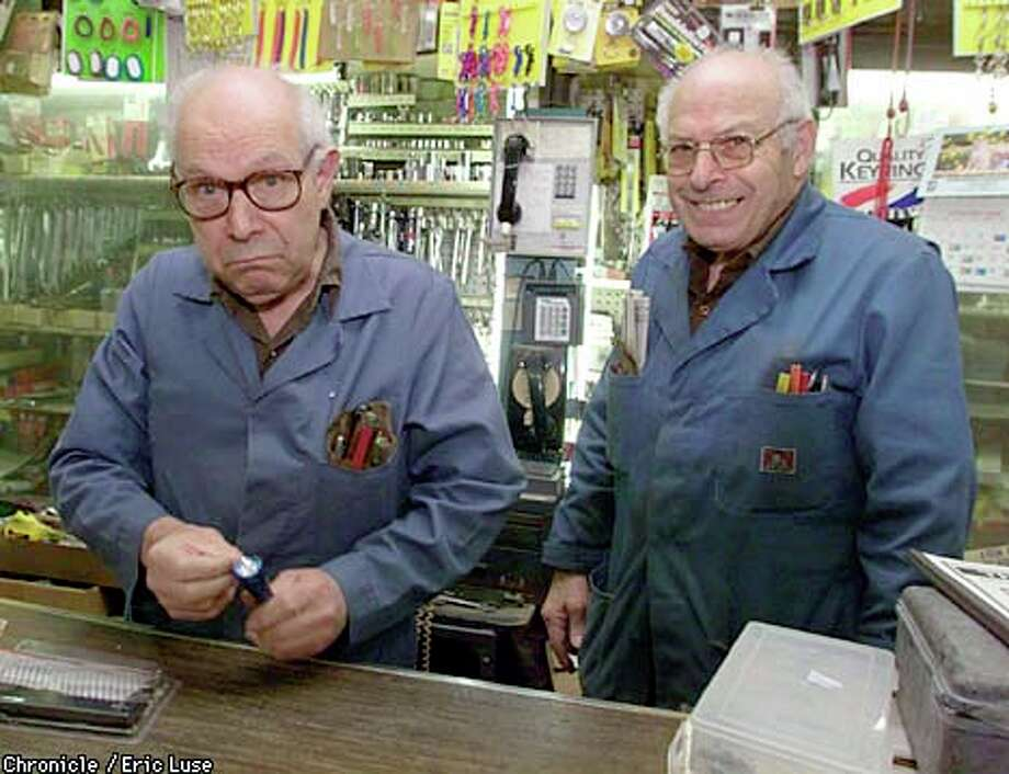 Brothers Marvin and Joe Anmuth own and run Workingman's Headquarters, which is part hardware store and part museum, on Mission Street. Chronicle photo by Eric Luse