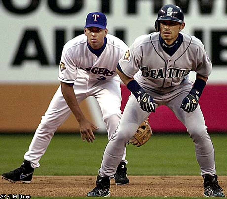 Alex Rodriguez, left, jumped to the Rangers but Ichiro Suzuki arrived in Seattle to help provide some offensive spark. Associated Press photo by LM Otero