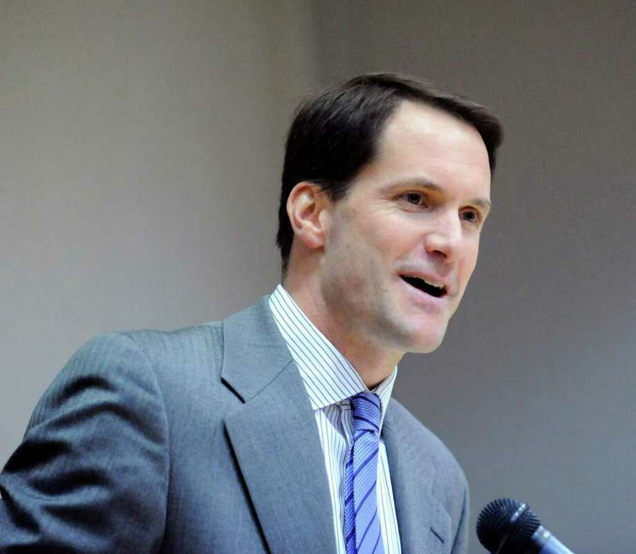 U.S. Rep. Jim Himes, D-Conn., in Greenwich on Jan. 12, 2012. Photo: Bob Luckey / Greenwich Time