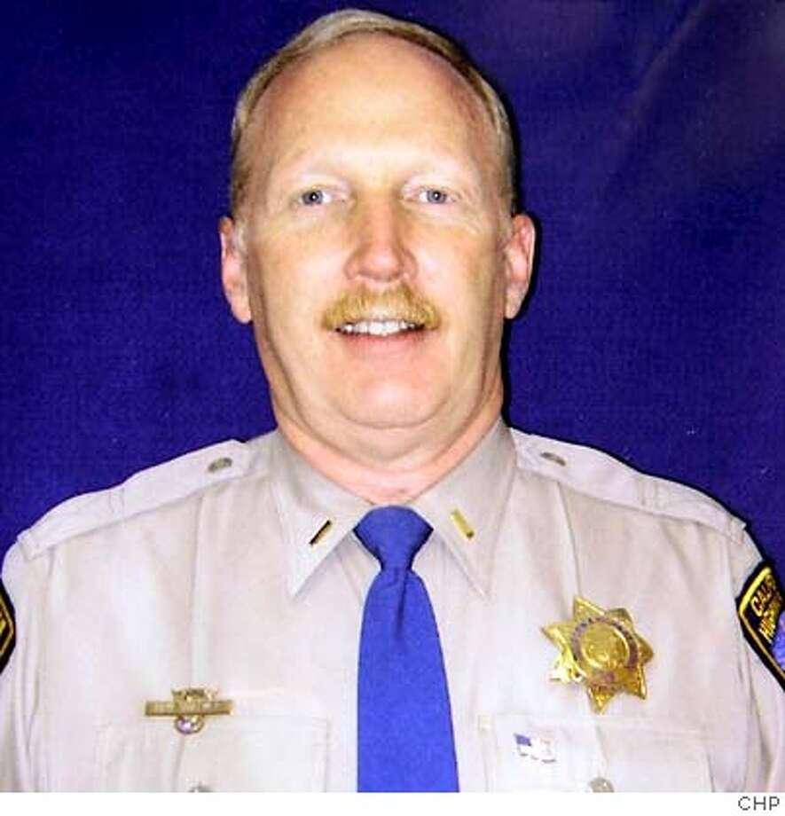 California Highway Patrol Lt. Michael Walker died just before 10pm on 12/31/05 on Highway 17 north of Scott's Valley  1/1/06 Photo: Kim Komenich