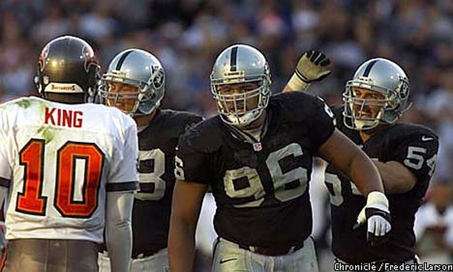 Raiders Darrell Russell in 1999. Chronicle file photo by Frederic Larson