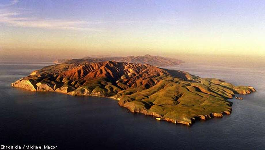 Southern California just off the coast from Ventura, The Channel Islands. National Parks Sevice maintains the Islands, Santa Cruz Island shown here is the newest addition to the chain as a National Park. South-Western edge at sunrise. The front/flat part is National Parks Property. Chronicle Photo: Michael Macor Photo: MICHAEL MACOR