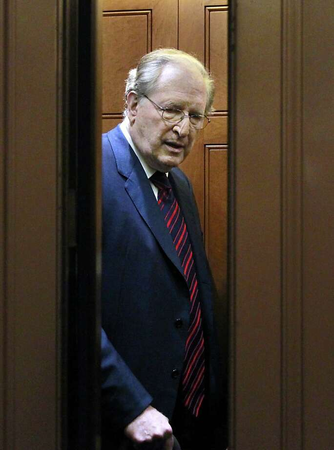 Sen. John Rockefeller IV, D-W.Va. is seen in an elevator as he leaves the Senate floor during a vote on Capitol Hill in Washington, Tuesday, Nov. 29, 2011. Photo: Manuel Balce Ceneta, ASSOCIATED PRESS
