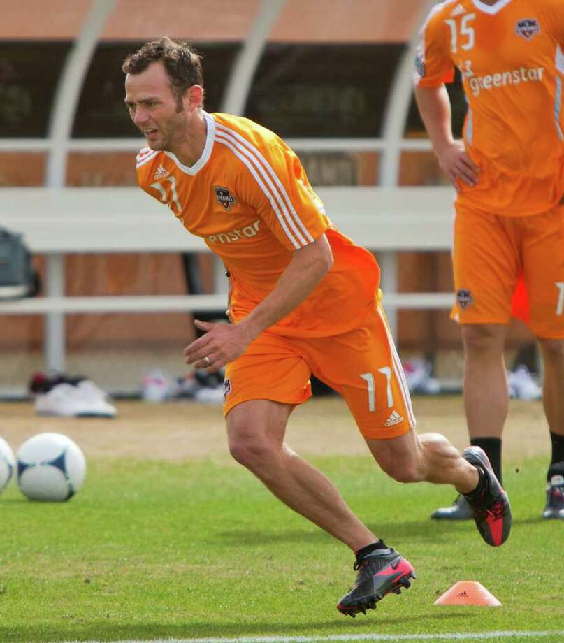 The Dynamo are rounding into shape in the preseason even with Brad Davis not quite ready to return to full duty. Photo: Andrew Richardson / © 2012 Andrew Richardson