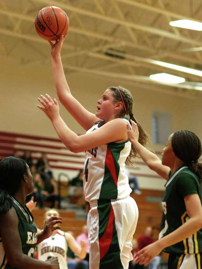 Girls basketball first teamKelsey Lang (center), forward, The Woodlands  Photo: Nick De La Torre / © 2012  Houston Chronicle