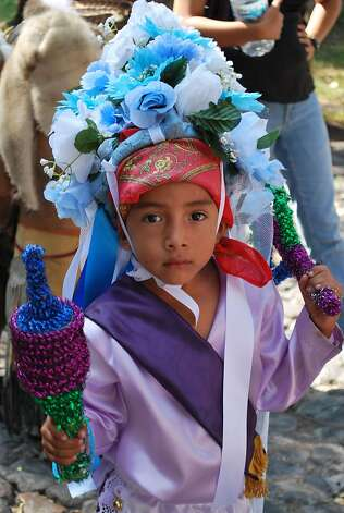 A costumed performer for the Fiesta de San Miguel. Photo: Maribeth Mellin, Special To SFGate