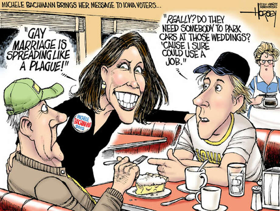 Michele Bachmann brings her message to Iowa voters