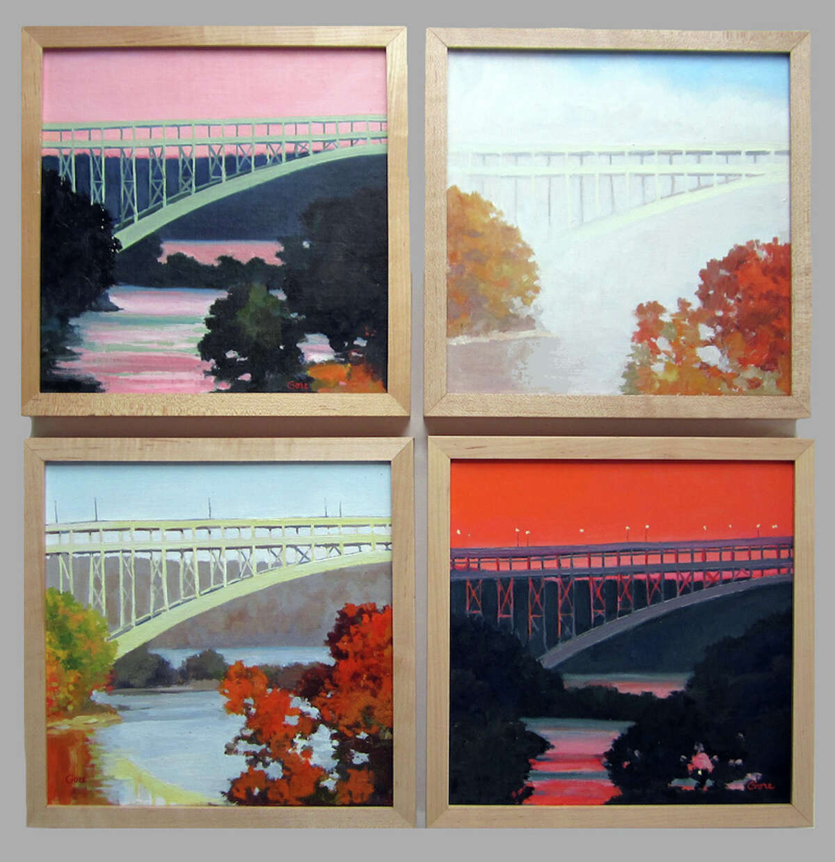 WINDHAM FINE ARTS ?Bridge Studies? by Elissa Gore are among the works in ?Barns and Bridges? at Windham Fine Arts Saturday through March 31. There will be a reception from 4 to 6 p.m. on Saturday.