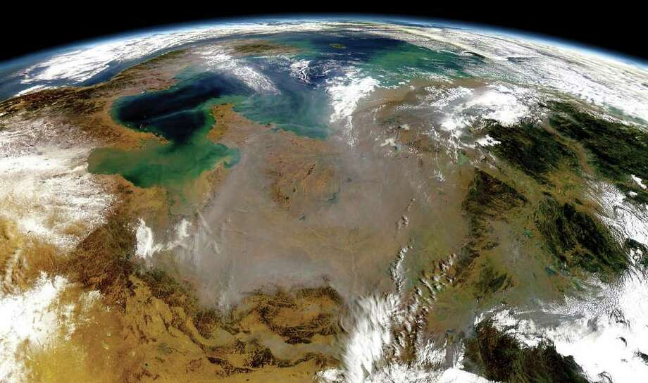 An image of China is part of the Houston Symphony's Orbit - An HD Odyssey film, which is a sequel to its popular program, The Planets. Photo: Goddard Space Flight Center