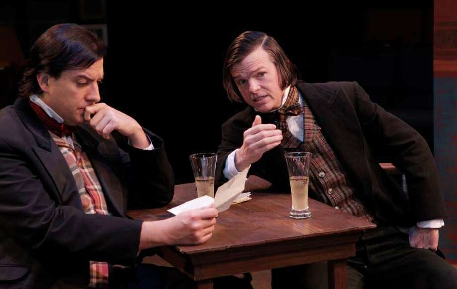 Sean Patrick Judge, left, and Joel Sandel star in Main Street Theater's production of The Coast of Utopia. Photo: Melissa Phillip / © 2011 Houston Chronicle