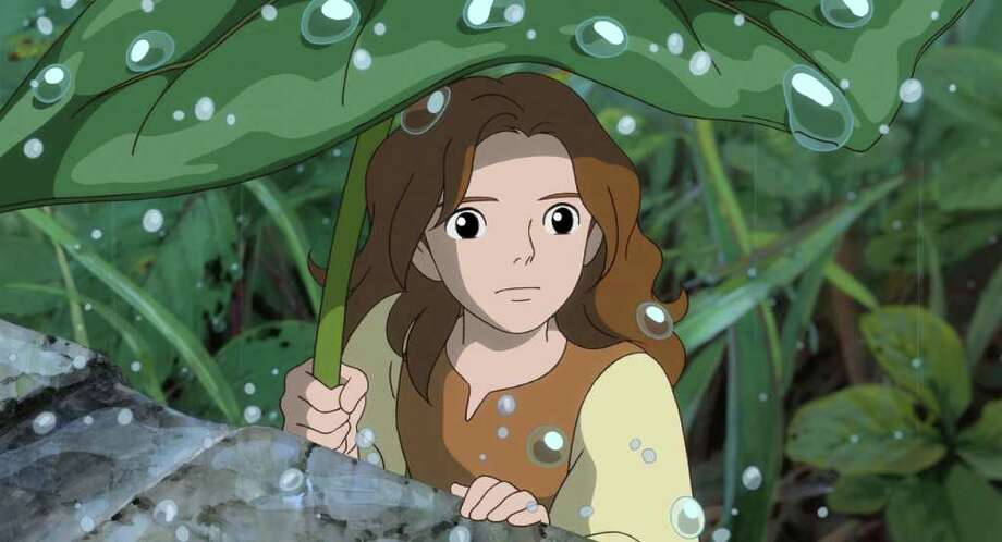"In this image released by Disney, the character Arrietty, voiced by Bridgit Mender, is shown in a scene from the animated feature, ""The Secret World of Arrietty."" (AP Photo/Disney) / © 2010 GNDHDDTW. All Rights Reserved."