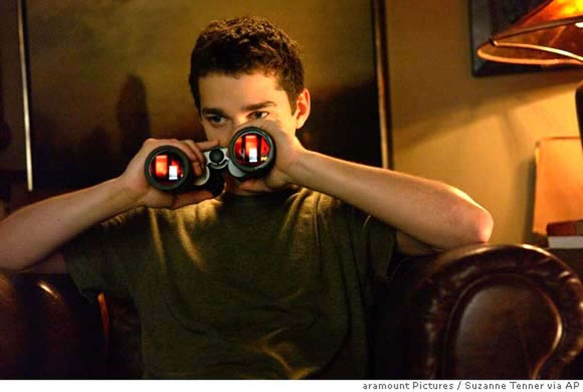 This photo provided by Paramount Pictures shows Shia LeBeouf in a scene from