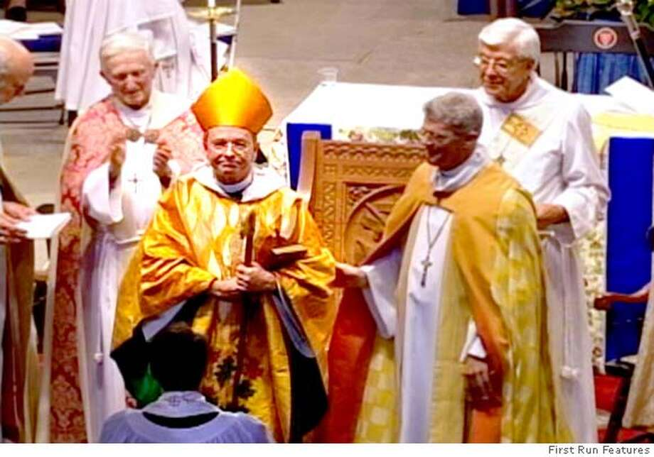 -  Gene Robinson at his consecration in FOR THE BIBLE TELLS ME SO directed by Daniel Karslake. A First Run Features release. Photo: -