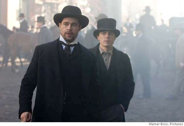 BRAD PITT as Jesse James and CASEY AFFLECK as Robert Ford in Warner Bros. Pictures� and Virtual Studios� drama �The Assassination of Jesse James by the Coward Robert Ford,� distributed by Warner Bros. Pictures. PHOTOGRAPHS TO BE USED SOLELY FOR ADVERTISING, PROMOTION, PUBLICITY OR REVIEWS OF THIS SPECIFIC MOTION PICTURE AND TO REMAIN THE PROPERTY OF THE STUDIO. NOT FOR SALE OR REDISTRIBUTION. Photo: Kimberly French