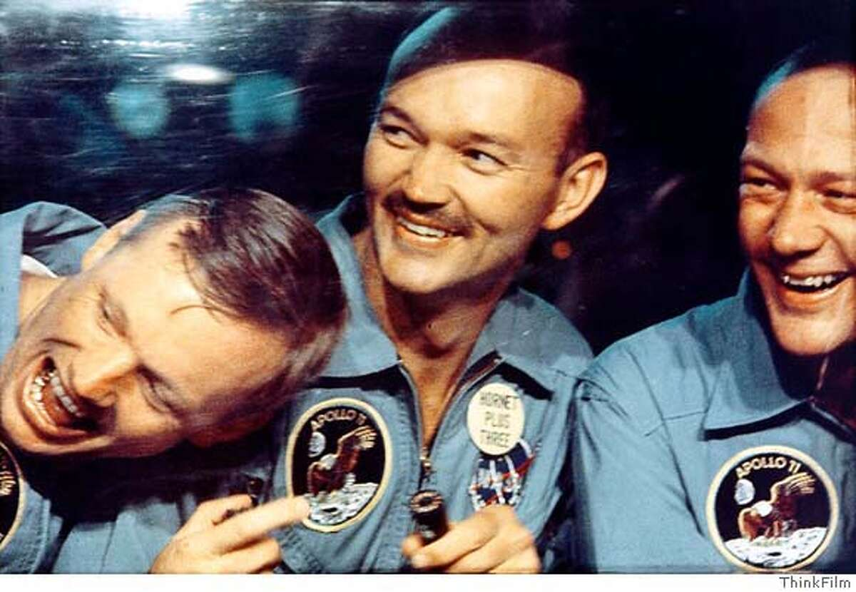 ThinkFilm provided this photo of (left to right) Neil Armstrong, Mike Collins and Buzz Aldrin after the July, 1969 Apollo 11 mission from